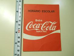 Timetable * Horário Escolar * Portugal * 1986/87 * Coca-Cola - Europe