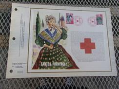 FRANCE (1977) CROIX ROUGE  Santons De Provence - Documents De La Poste