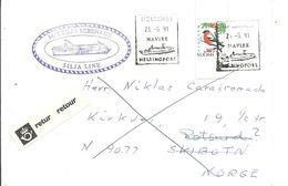 LETTER RETUR 1991  SCANER - Cartas