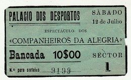 Ticket * Portugal * Palacio Dos Desportos * See Grade - Tickets - Vouchers
