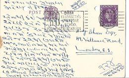 1968 Great Britain Post Card Stationary 3d Prepaid Stamps London - 1952-.... (Elizabeth II)