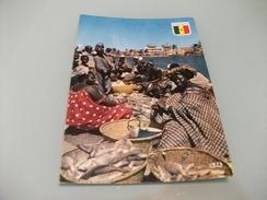 STORIA POSTALE FRANCOBOLLO COMM. SENEGAL MERCATO MERCANTI VENDITORI DI PESCE  FISH  FISHMONGERS AT SAINT LOUIS - Mercanti