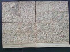 Topografische En Militaire Kaart STAFKAART 1912 Gent Aalst Zele Gavere Leeren Deurle Melle Wetteren Oosterzele Oordegem - Cartes Topographiques