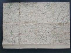 Topografische En Militaire Kaart STAFKAART 1913 Tielt WIngene Aalter Nevele Izegem Dentergem Deinze Zulte Olsene Wacken - Cartes Topographiques