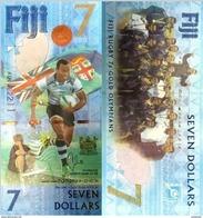 FIJI 7 Dollars 2016 P 120 UNC Rugby - Fidji