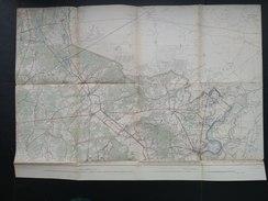 Topografische En Militaire Kaart STAFKAART 1910 Maaseik Bree Hamont Achel Weert Stevensweert Caulille Kinroy Meeuwen - Cartes Topographiques
