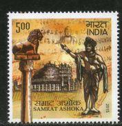 INDIA 2015 Samrat Ashoka Emperor King Buddha Buddism Religion Ashoka Capital Stamp 1v MNH - Buddhism