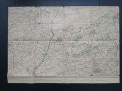 Topografische En Militaire Kaart STAFKAART 1911 Lokeren Daknam Stekene Wachtebeke Koewacht Sas Van Gent Evergem Assenede - Cartes Topographiques