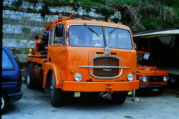 DIAPOSITIVA/SLIDE CAMION GRU FIAT 682 - Dias