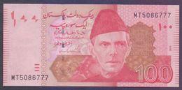 PAKISTAN BANKNOTE - 100 Rupees New Note Of Ashraf Vathra 2016, Prefix MT, 5086777 UNC - Pakistan