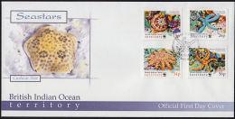 C0519 British Indian Ocean Territory  2001, SG253-256 Seastars   FDC - British Indian Ocean Territory (BIOT)