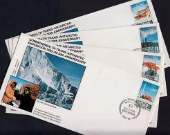 D0357 BRITISH ANTARCTIC TERRITORY 1988, SG 163-6 30th Anniv Trans-Antarctic Expedition,  4 @ FDC - British Antarctic Territory  (BAT)