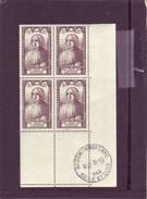 N° 769 - 6F+5F - Jean CHARLIER - Bloc De 4 - Cachet ST GERMAIN EN LAYE - Du 28.10.1946 - Angoli Datati