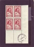 N° 767 - 4F+3f COMMYNES - Bloc De 4 - Cachet SAINT GERMAIN EN LAYE - 28.10.1946 - - Angoli Datati