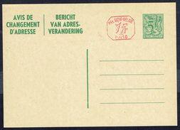 Changement D'adresse N° 22 M1 I FN P010B - Non Circulé - Not Circulated - Nicht Gelaufen. - Stamped Stationery