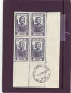 N° 765 - 2F+1F - VILLON - Bloc De 4 - Cachet SAINT GERMAIN EN LAYE - 28.10.1946 - - Angoli Datati