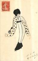 CARTE DESSINEE PAR LOUISE CALVET EN 1911 - Illustrateurs & Photographes