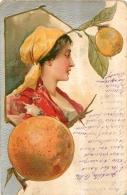 ILLUSTRATEUR    FEMME  STYLE BOHEMIENNE FRUITS EN RELIEF - Illustrateurs & Photographes