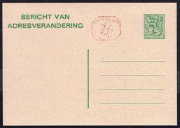 Changement D'adresse N° 22 M1 IV N P016 - Non Circulé - Not Circulated - Nicht Gelaufen. - Avis Changement Adresse
