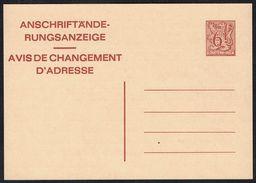Changement D'adresse N° 23 V AF - Non Circulé - Not Circulated - Nicht Gelaufen. - Addr. Chang.