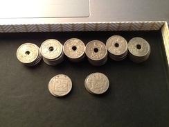 Lot De 56 Monnaies De 25 Centimes Lindauer Et De 6 Monnaies Patey - Francia