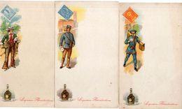 Liqueur Bénédictine - Facteur Et Fac Similé Timbre Poste ..Menu ? 3 Documents . (100395) - Werbung