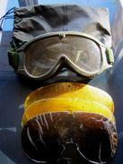 LEGION ETRANGERE POCHETTE AVEC LUNETTE DE PROTECTION SABLE OPEX AVEC 4 VERRES PLASTIQUE INTERCHANGEABLES OCCASION CEBE - Equipement