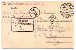 CF Expédiée Par Un Prisonnier Du Camp De Soltau Vers Moha (1917) - WW I