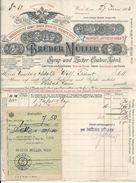 FAT64 - FATTURA 1906 BRùDER MùLLER - VIENNA WIEN -  SYRUP - UND ZUCKER - COULEUR FABRIK - Autriche