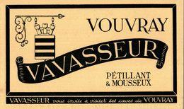 VOUVRAY VAVASSEUR - Buvards, Protège-cahiers Illustrés