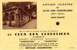 ANCIEN CLOIOTRE DU CLOS DES CORDELIERS  SAINT EMILION - Blotters