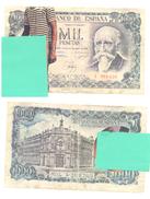 PHANTASY BANKNOTES 1000 PESETAS   YEAR 1971 PORN VARIANT - [ 3] 1936-1975 : Regency Of Franco
