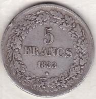 Belgique. 5 Francs 1833. Position B. LEOPOLD PREMIER. ARGENT - 1831-1865: Léopold I
