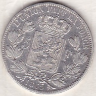 BELGIQUE . 5 FRANCS 1865 . LEOPOLD PREMIER. ARGENT. Position A - 1831-1865: Leopold I