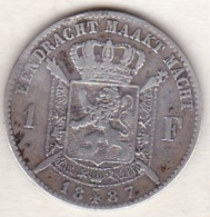 BELGIQUE . 1 FRANC 1887 .légende Flamand .LEOPOLD II. ARGENT . Sans Le Point Après Le L De La Signature - 07. 1 Franc