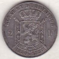 BELGIQUE. 2 FRANCS 1830 1880. 50ème ANNIVERSAIRE DE L´INDEPENDANCE. ARGENT. TTB - 1865-1909: Leopold II