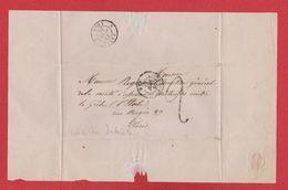 Plis  / De Mer  / Pour Paris / 17 Juin 1850 - Marcophilie (Lettres)