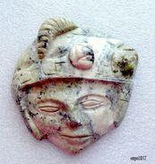 Joli Masque Azteque (maya, Inca ) Sculpté En Pierre Du Mexique - Sculptures