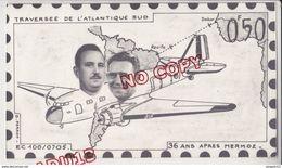 Au Plus Rapide Photo Montage Trucage ? Aviation 36 Ans Après Mermoz Avion Pilote - Aviation