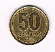 )   ARGENTINA  50  CENTAVOS  1992 - Argentine