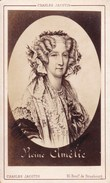 Marie-Amélie Reine Des Français Série Format CDV Par JACOTIN Paris Années 1870 - Photos