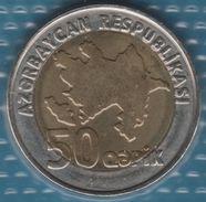 AZERBAIJAN 50 KAPIK ND (2006)  KM# 44  Bi-métallique Oil Wells - Azerbaïjan