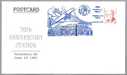 FIRST AIRMAIL SERVICE NEW YORK - VER SUR MER. Estatua Libertad - Statue Of Liberty. Teterboro NJ 1997 - Correo Postal
