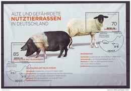 BRD - 2016 - Block 81 - Nutztierrassen - ESST Berlin - Gestempelt - Blokken