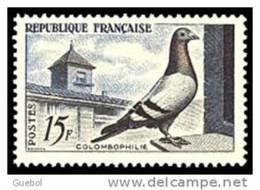France N° 1091 ** Colombophilie - Pigeon - France