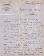 PARIS - FABRIQUE A TOULOUSE , HAUTE GARONNE - ORNEMENTS D' EGLISE PERFECTIONNES - SIMON JEUNE - LETTRE - 1865 - 1800 – 1899