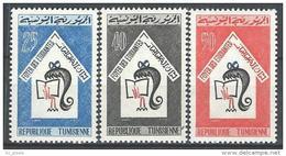 """Tunisie YT 592 à 594 """" Foyer Des étudiantes à Tunis """" 1965 Neuf** - Tunisia"""