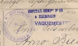 HOPITAL COMPre N°50 à EMBRUN Puis BARCELONNETTE PRISONNIERS DE GUERRE. Hautes Alpes. Origine BERLIN. - Guerre De 1914-18