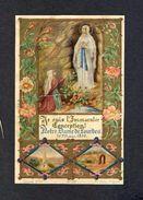 Image Pieuse: Notre Dame De Lourdes. 6 X 9 Cms. Plis Divers (Ed.Giraud 38) (Ref.83541) - Images Religieuses