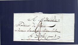1806 38 Morez Claude Jobely To Mme Charlotte-Anne-Sophie-Désirée Stain Château Chalon à Dôle (EO1-142) - France